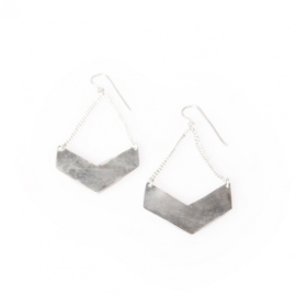 Evii Chevron Earrings silver plated by Made Kenya