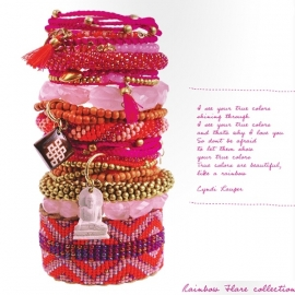 armband - Twist rainbow ruby bracelet
