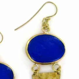 oorhanger - Metho Earrings blue by Made Kenya