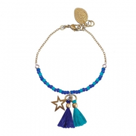 armband - Cobalt wishes bracelet