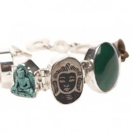 ring - Lucky Buddha ring turqoise