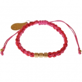 armband - Flush 2 string orange bracelet