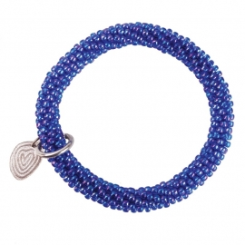armband - Twist rainbow cobalt bracelet