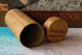Mais Oui ! bamboe koker voor houten en bamboe zonnebrillen