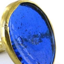 ring - Nthongo ring blue by Made Kenya