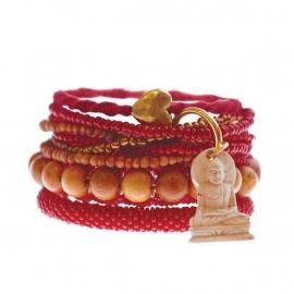 armband - Milipede red bracelet