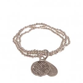 armband - Anju Silver Buddha charm bracelet