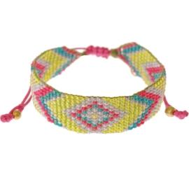 Calli lime Aztec bracelet