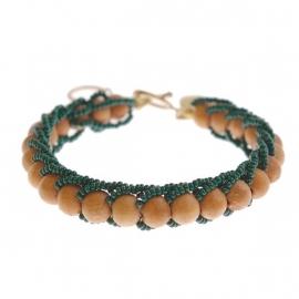 armband - Milipede green bracelet