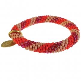 Twist spiral ruby bracelet