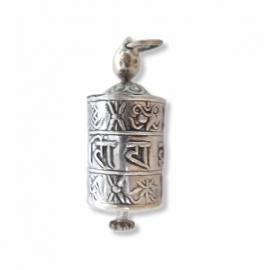 Silver Mani amulet charm pendant