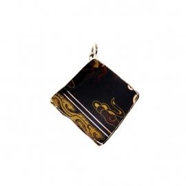 hanger - Lucky Buddha Black tile pendant