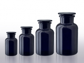 1 liter apothekersfles miron violet glas