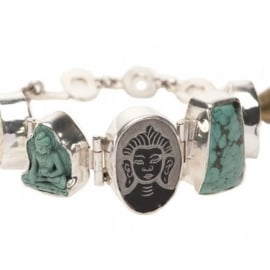 Lucky Buddha bracelet turquoise