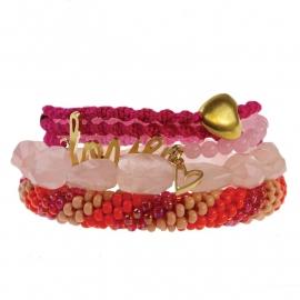 armband - All pink bracelet rosequartz