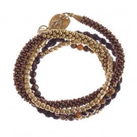 armband - Superwrap Brown bracelet
