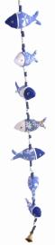 fish string blauw-wit