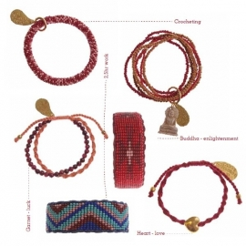 armband - Twist sundry red bracelet