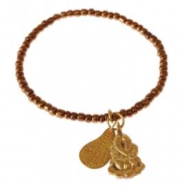 armband - All copper Buddha charm bracelet