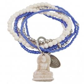 armband - Nirmala Cobalt Buddha charm bracelet