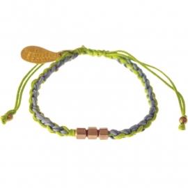 armband - Flush 2 string lime bracelet