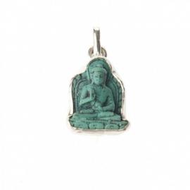 Lucky turqoise buddha pendant