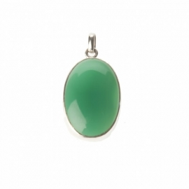 hanger - Lucky Buddha green onyx pendant