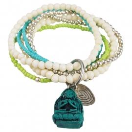 armband - Nirmala turquoise Buddha charm bracelet