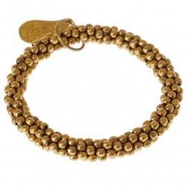 Twist golden bracelet