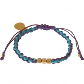 armband - Flush 2 string purple bracelet