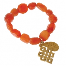 armband - Red Buddha charm bracelet