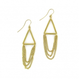 oorhanger - Chain Drop Earrings by Made Kenya