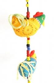 chicken string multicolor