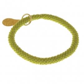 armband - Twist lime bracelet