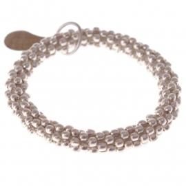 armband - Twist silver bracelet