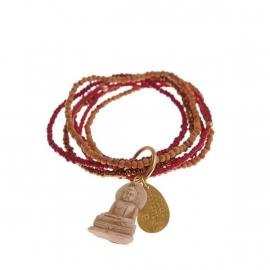 armband - Nirmala Red Buddha charm bracelet