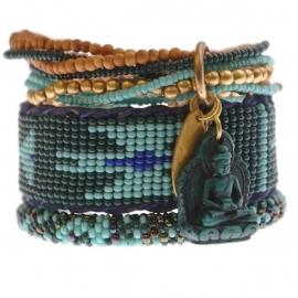 armband - Nirmala Green Buddha charm bracelet