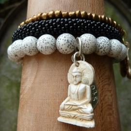 armband - Lotus Buddha charm bracelet