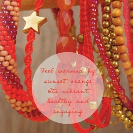 armband - Wish on a star sunset bracelet