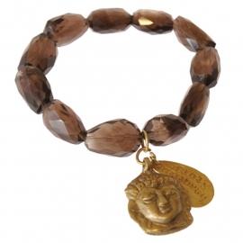 armband - Brown Buddha charm bracelet