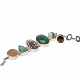 armband - Lucky Buddha bracelet green onyx