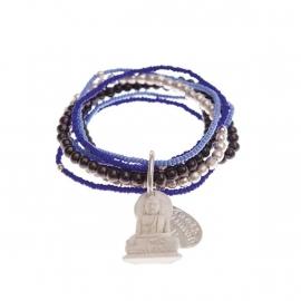 armband - Nirmala Blue Buddha charm bracelet