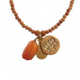 ketting met hanger - Anju Sandal Buddha charm necklace