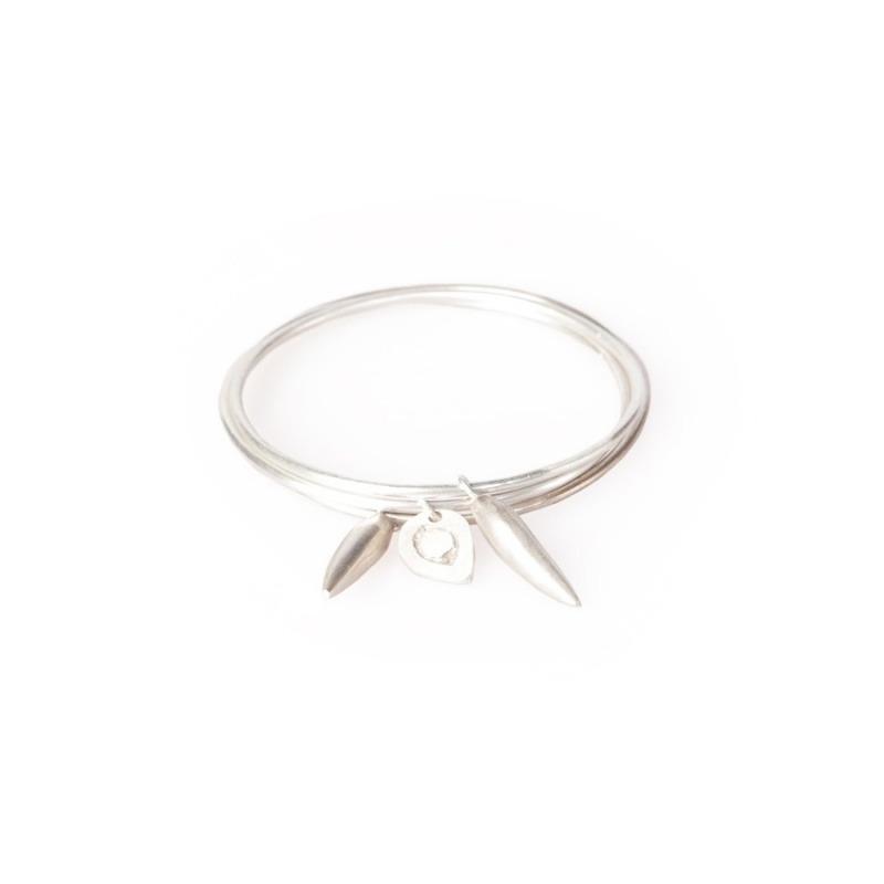 armband - Pembe Charm Bangles silver plated by Made Kenya