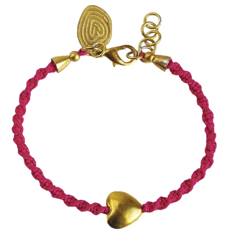 armband - From the heart ruby bracelet
