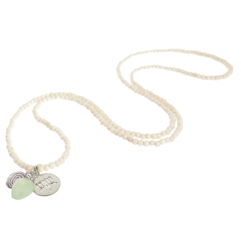 ketting met hanger - Anju White Buddha charm necklace