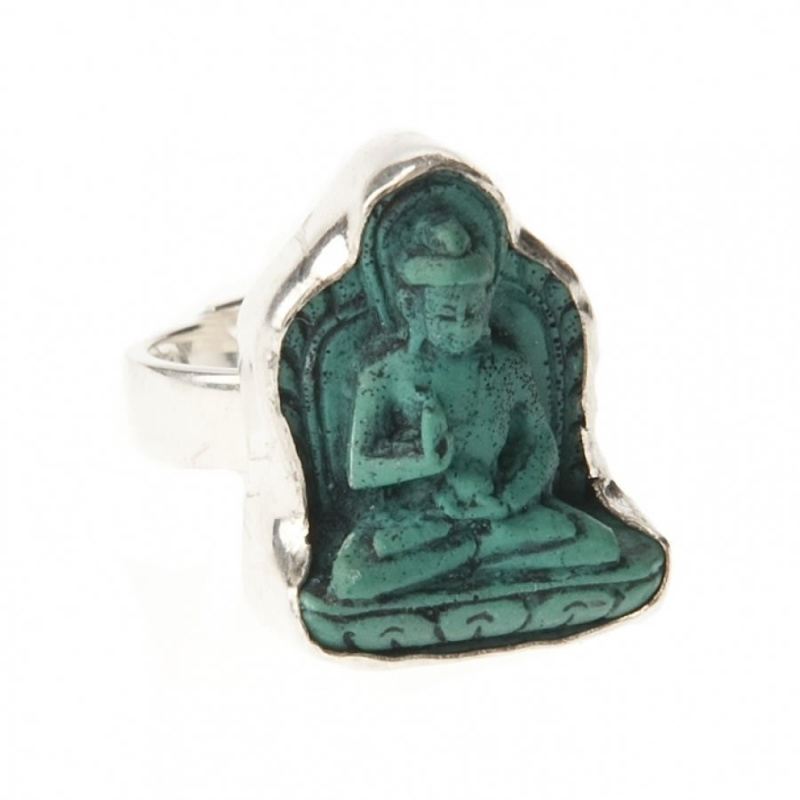 ring - Lucky Buddha ring turqoise