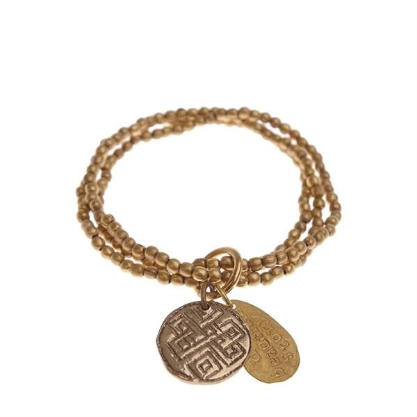 armband - Anju Golden Buddha charm bracelet