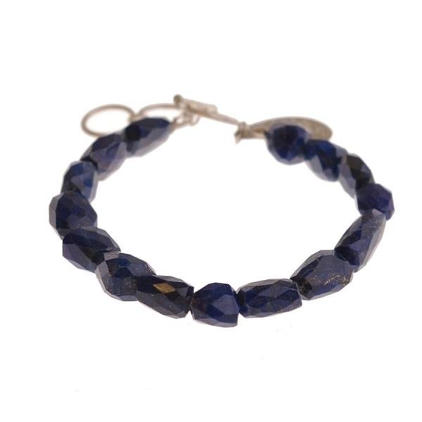 armband - Blue lapis Buddha charm bracelet