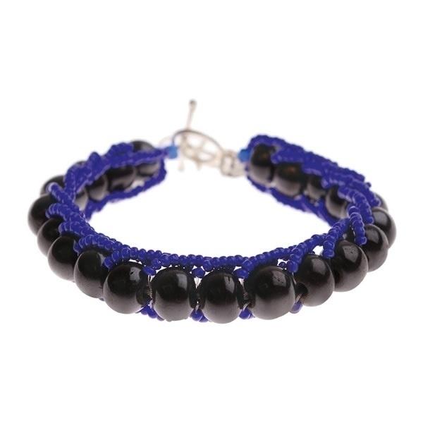 armband - Milipede blue bracelet